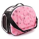 Hunde Bauchtragetasche,Print Kleine Hundewelpen-Katze mit verstellbaren Trägern Kleine Hundebox Hundetransportkisten