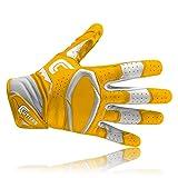 Cutters S451 Rev Pro 2.0 American Football Receiver Handschuh, Gelb, Gr. M