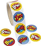Pack of 100 - Superhero Theme Stickers - Great for X-Men,Spiderman,Marvel Super Heroes Party Loot Bags