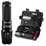 Shadowhawk X800 LED Taschenlampe, Super Helle 900 Lumen CREE L2 LED, 5 Licht Modi, Wiederaufladbare Taschenlampe mit Zoom für Camping, Wandern und Notfälle (Inklusive 18650 Batterie) (B)