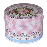 CARMANI - Variation des fleurs Collectibles Mini Métal Bibelot Tobacco Candy Tin Boîte a bijoux Piece de monnaie Thé Conteneur Micro Trésor Boîte de rangement avec des couvercles