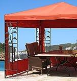 Grasekamp 2 Seitenteile zu Blätter Pavillon 3x3m Terrakotta