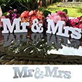 iShine Lettere Decorative per Matrimonio in Lengo Bianco Mr & Mrs per Matrimoni