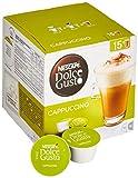 Nescafé Dolce Gusto Cappuccino, XXL-Vorratsbox, 90 Kapseln (45 Milch-, 45 Kaffeekapseln), 100% Arabica Bohnen, leichter Kaffeegenuss mit cremigem Milchschaum, 3er Pack (3 x 30 Kapseln)