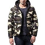 Giacca Invernale Uomo Cappotto Outwear Camouflage Slim Trench Cerniera Tappi Giacche Resistenti all'Acqua Jacket Top Camicetta Yesmile