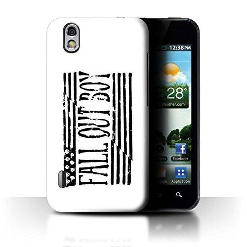 ll Hülle/Case für LG Optimus Black P970 / Flagge/Weiß Muster/FOB Band Logo Kollektion ()