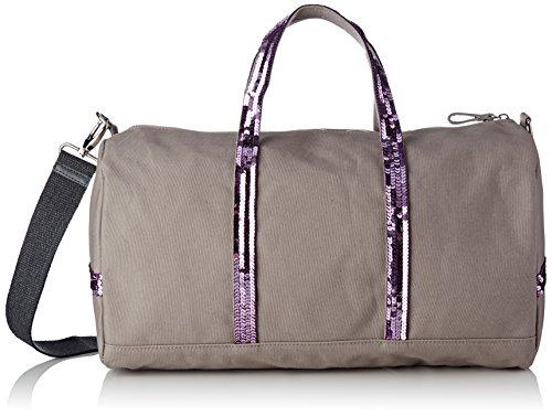 Vanessa Bruno Damen Cabas Gym Bag Coton Et Paillettes Bowling Tasche, Violett (Quartz), 23x27x41 centimeters