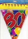 10m Festoon 80a Aniversario Cumpleaños Bunting