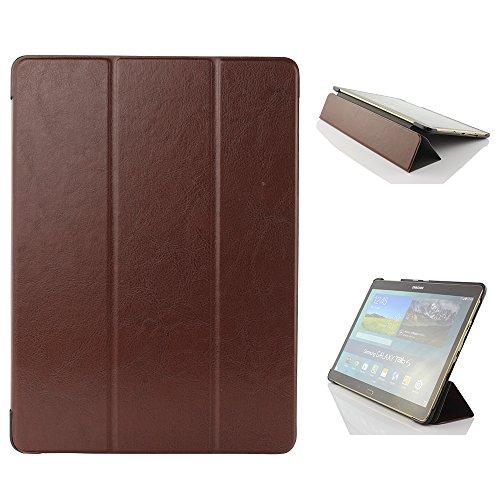 Urcover® Schutzhülle kompatibel mit Samsung Galaxy Tab S 10.5 Smart Cover Case in Braun [ mit Standfunktion & Sleep Wake ] Schutzhülle Etui Schale