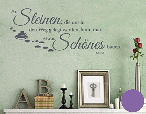 Klebefieber Wandtattoo aus Steinen. B x H: 160cm x 64cm Farbe: Lavendel