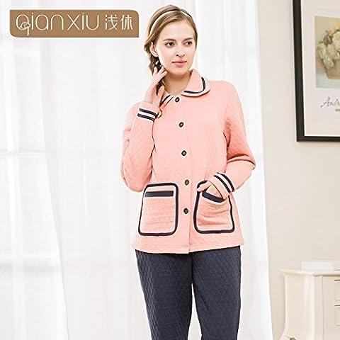 In inverno le coppie party per i pacchetti - homewear, maglia a manica lunga abito di cotone pantaloni cartella, M-YU&XIN