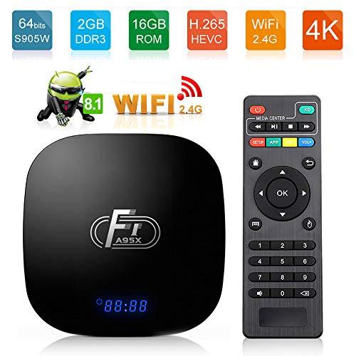 HM2 Android 8.1 TV-Box 1 GB / 2 GB RAM 8 GB / 16 GB ROM Quad Core 64-Bit-Smart-TV-Box-Unterstützung 4K 2.4G WiFi Media Player - Schwarz,1GB+8GB (128gb Media Player)