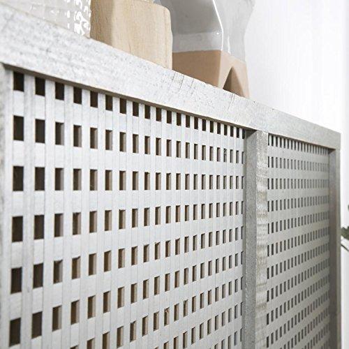 Nordic Heizkörperverkleidung 116,5Cm – Holz – 116x18x78 cm – Farbe Perlgrau - 4