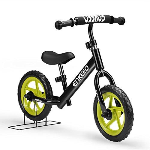 Enkeeo 12' Draisienne Vélo Enfant Vélo Sans Pédales Pour 2~6 Ans, Cadre en Acier au Carbone,...