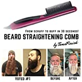 XZFS Cepillo para Alisar el Cabello, alisador Profesional para Barba, tecnología iónica de Calentamiento rápido para el Modelado Flexible de Bricolaje