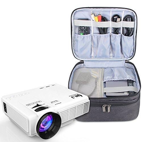Luxja Beamertasche für QKK Mini Beamer, Tragbar Projektor Tasche für DR.Q Projektor und Zubehör, Schwarz