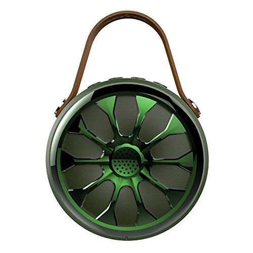 S11 Led (S11Tragbarer Bluetooth-Lautsprecher Outdoor Ride Wasserdicht IP67Bass Stereo kabelloser Lautsprecher Sport Subwoofer Camping Power Bank Taschenlampe (grün))