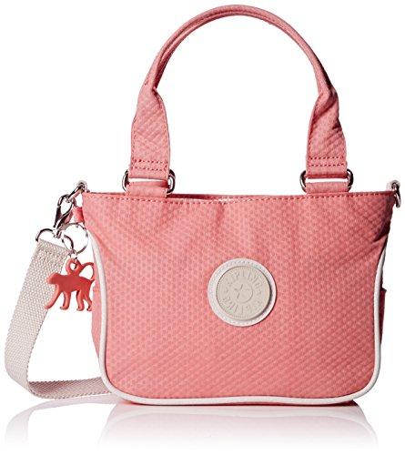 Kipling Emmalee S BPC - Borsa a tracolla, 45cm, rosa (Rose (Dots Shell Pink_Q29)), 45 cm