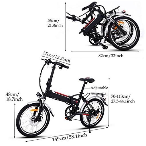 Fastdirct Bici Bicicletta Elettrica Pedalata Assistita Pieghevole
