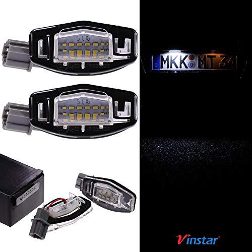 VINSTAR LED Kennzeichenbeleuchtung E-geprüft CAN-Bus 18 LEDs je Modul 6000 Kelvin für Honda, Acura (alle passenden Modelle in der Produktbeschreibung!)