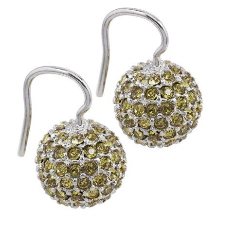 Burgmeister Jewelry Damen-Ohrhaken 925/-Sterling Silber rhodiniert, Swarovski Kugel champa Preisvergleich