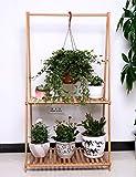 SED Blumenzahnstange Nanzhu Echtholz-Fußboden-Kreative faltende Blumen-Zahnstangen-Balkon-Blumentopf-Zahnstangen-Korb-Blumen-Zahnstange -Home Umwelt-Dekorationen,70 * 129Cm