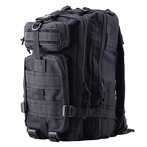Imagen de tld  de senderismo 28 litros,color negro, táctica , de asalto para excursionismo, montañismo, ciclismo, trekking ,  military de alta calidad. negro