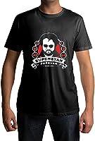 Fully Filmy Superstar Forever Round Neck Cotton Unisex T-Shirt (TEE-106-BLK-MED)