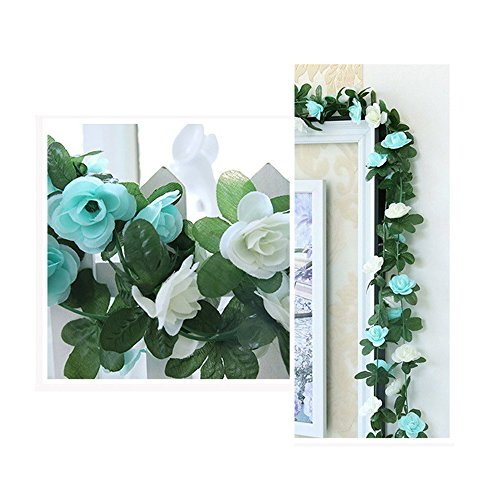 LumenTY künstliche Rosenreben, künstliche Blumen für Ihr Zuhause, Hochzeiten, Garten, Geburtstag, Feierlichkeiten, zur Dekoration, 2er-Packung, in leuchtendem und hellem Purpur