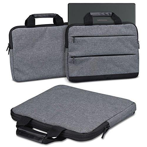 Schutzhülle für Medion Akoya E2294 Laptop Tasche Sleeve Case Notebooktasche Hülle in Grau, Farbe:dunkel Grau