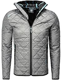 Geographical Norway - Blouson gris fonce matelassé capuche Geographical Norway