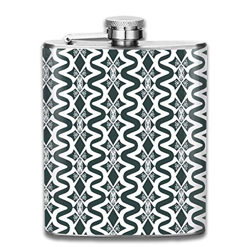 Abstract Optical Illusion Stainless Steel Flask Classic 7OZ Hip Flask Camping Wine Pot Whiskey Wine Flagon Mug