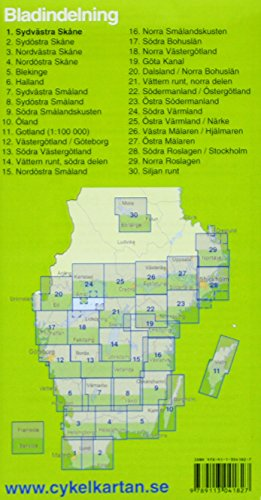 Cykelkartan Blad 1 Sydvästra Skåne 1 : 90 000: Fahrradkarte Schweden: Alle Infos bei Amazon