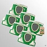 24 Stück Filtertüten Staubsaugerbeutel passend für Vorwerk Kobold VK 200 FP200