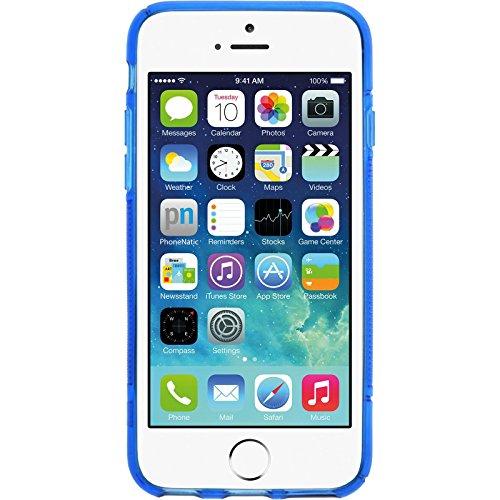 PhoneNatic Case für Apple iPhone 6s / 6 Hülle Silikon grau Cover iPhone 6s / 6 Tasche Blau