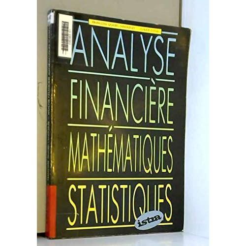 Analyse financière, mathématiques, statistiques
