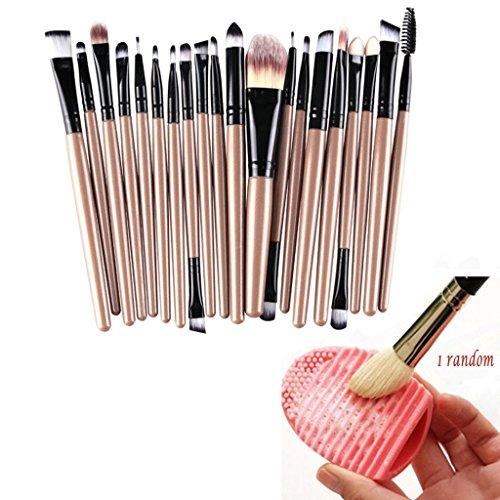 Bestim Incuk Make-up-Pinsel-Set, 20-teilig, mit 1 x Make-up-Pinsel-Reiniger in Eiform
