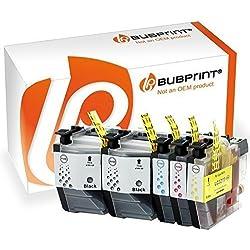 Bubprint 5 Druckerpatronen kompatibel für Brother LC-3219XL LC3219XL für MFC-J5330DW MFC-J5335DW MFC-J5730DW MFC-J5930DW MFC-J6530DW MFC-J6930DW