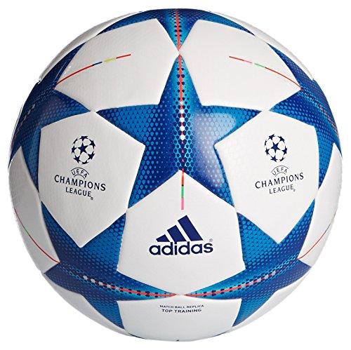adidas Fin15TTrain - Balón de fútbol, color blanco / azul, tamaño 4