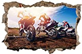 Motocross Motorrad Sonne Wandtattoo Wandsticker Wandaufkleber D0958 Größe 40 cm x 60 cm