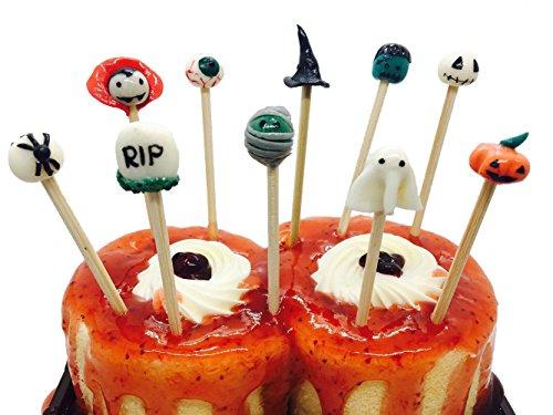 Holloween Kuchen & Cupcake Topper, Cocktail Picks und Party Dekoration, Größe 10,2cm.