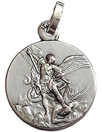 Medalla de Arcángel San Miguel en Plata de Ley 925 - Las medallas de Los Patronos