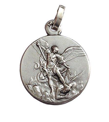 925 Sterling Silber Medaille Erzengel St. Michael