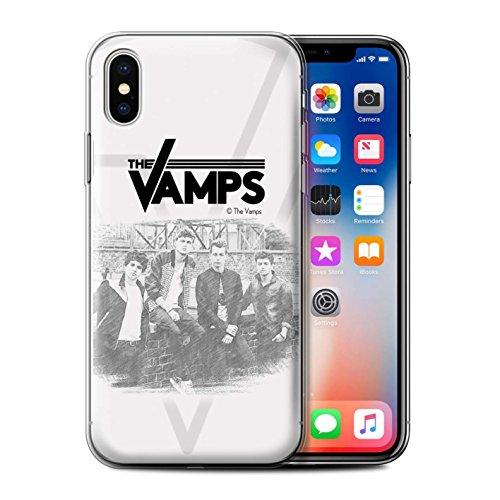 Offiziell The Vamps Hülle / Gel TPU Case für Apple iPhone X/10 / Pack 6pcs Muster / The Vamps Fotoshoot Kollektion Skizzieren