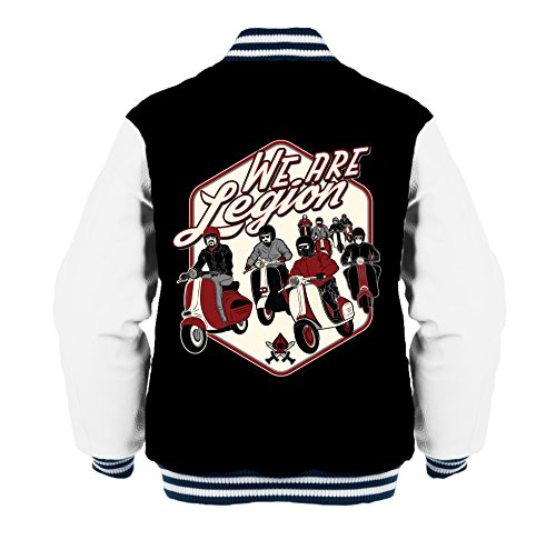We Are Legion College-Jacke Retro-Style Rockabilly Scooter (XL)