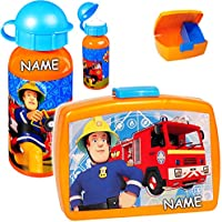 alles-meine.de GmbH 2 TLG. Set _ Lunchbox / Brotdose & Trinkflasche - Feuerwehrmann Sam - mit .. - preisvergleich