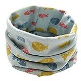 Longra Schals Kinder Baby Jungen Mädchen Baumwolle Schal O Ring Hals Baby Schals Herbst Winter Kinder Baumwollschals Warme Schals loop schal Hals Wärmer(0-3Jahre (A2)
