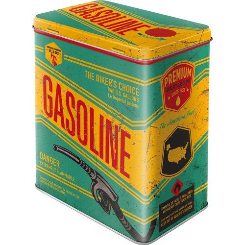 Caja metálica de estilo retro - Gasoline