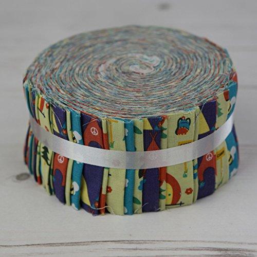 Camping grün ff-fj92g Jelly Roll 40Streifen Craft Patchwork Quilting 100% Baumwolle (Moda Stoff Streifen)