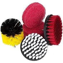 Hakkin Drill Brush, Drill Brocha Cepillos Limpiador Kit con Taco de esponjas de Limpieza para